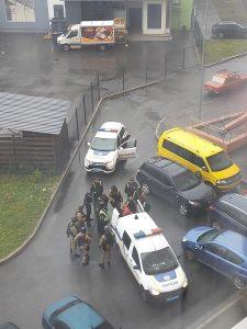 Перестрілка в Броварах на Торгмаші. Відео