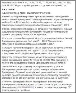 Суд задовільнив вимогу «ГОЛОСУ» про перевибори у Броварах